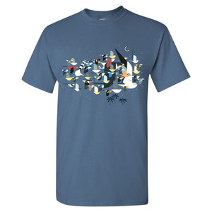 Charley Harper's Mystery of the Missing Migrants T-Shirt