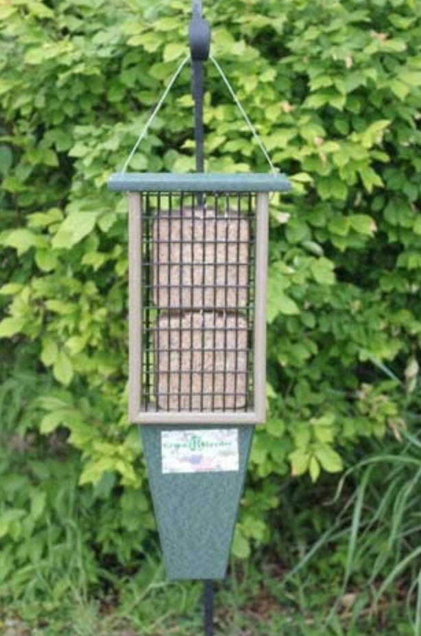 Double Suet Feeder Hunter Green