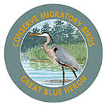Great Blue Heron Sticker