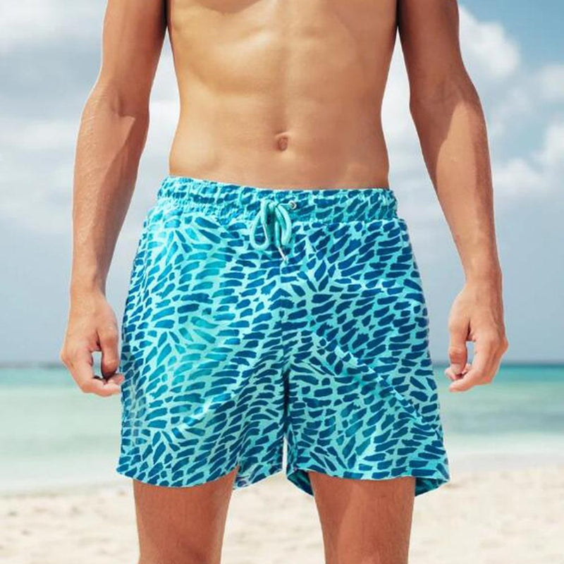 The Magic Trunks Color changing swim trunks swim pants bath pool summer swimwear wet color change shorts The Magic Trunks