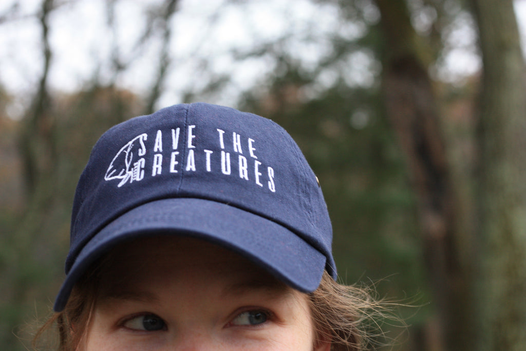 SAVE THE CREATURES | Navy Logo Cap