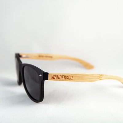 Wander & Co. Bamboo + Black Sunglasses
