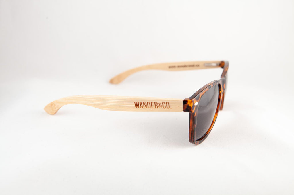 Wander & Co. Bamboo + Tortoise Sunglasses