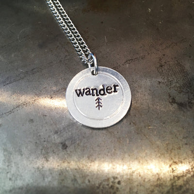 """Wander"" handmade aluminum necklace"