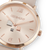 Coeur de Lion Watch Round Champagne Sunray Bracelet Leather Taupe