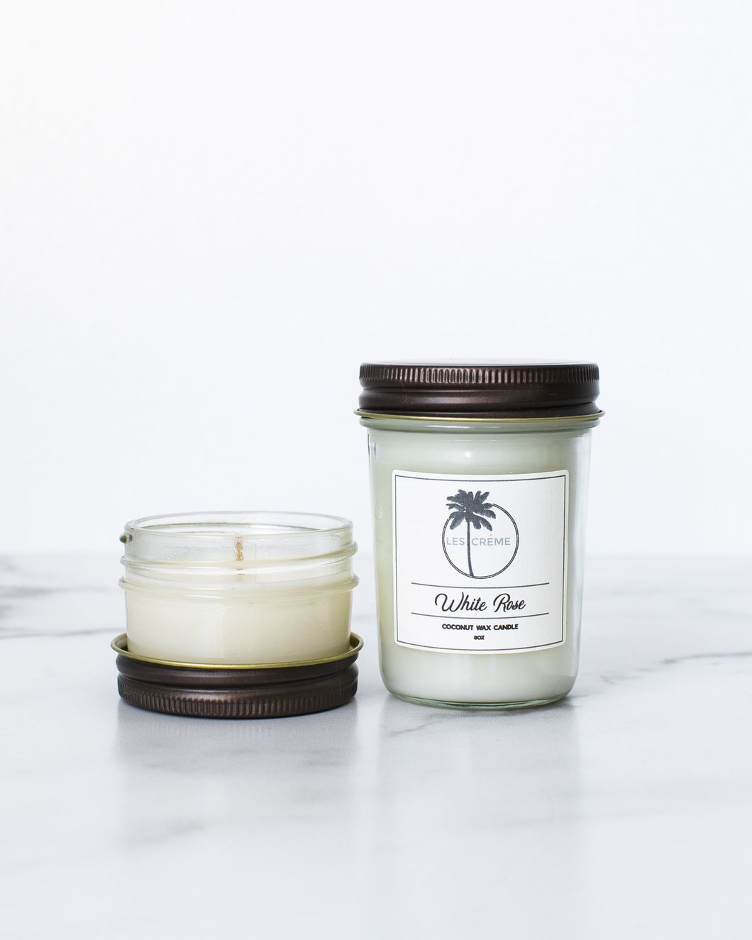 White Rose Coconut Wax Candle