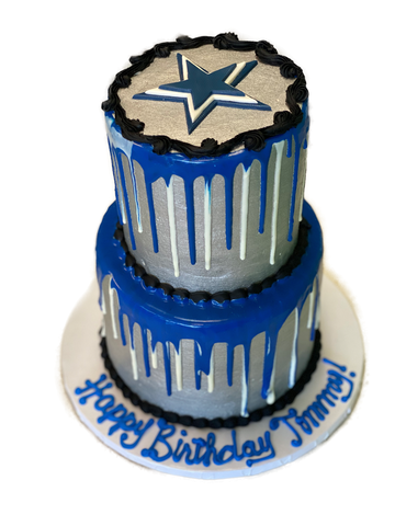 Dallas Cowboys Cake with Drip