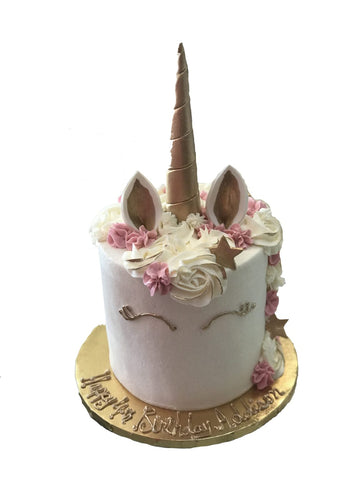 Unicorn Birthday Cake (single tier)