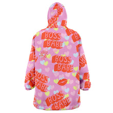 Load image into Gallery viewer, Boss Babe Shooshie Blanket Hoodie