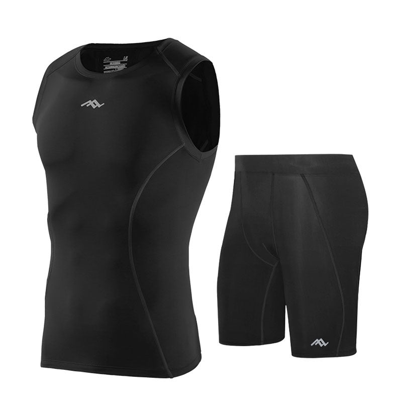 Quick-drying High-elastic Compression Fitness Shorts.