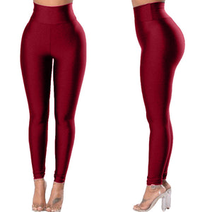 Women's Solid Color Leggings Yoga Pants. YP-099