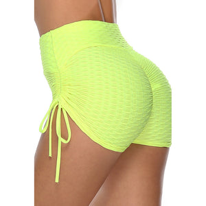 Women's Solid Color Knitted Sports Yoga Shorts. YP-096