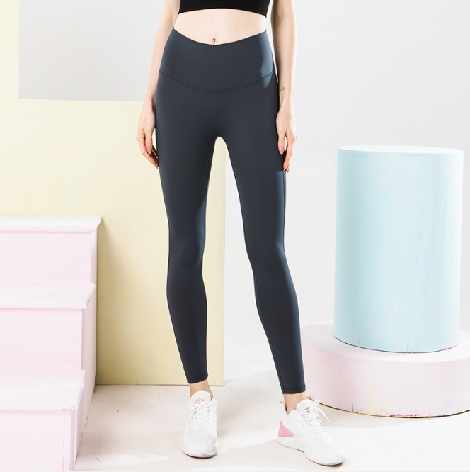 Nude Quick-drying High-waisted Tight Yoga Pants. YP-074