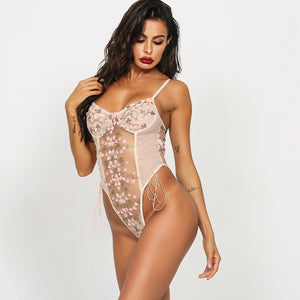 Net Yarn Transparent One-piece Underwear. UW-011