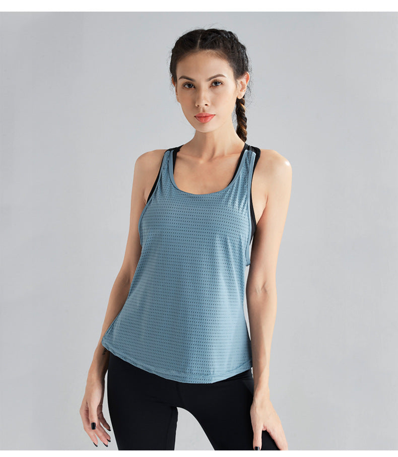 Polka Dot Sleeveless Sports Vest.YT-015