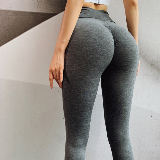 Women's Seamless Hip Tights Stretch Yoga Pants. YP-111