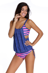 Split Swimsuit with Removable Chest Pad. SW-001