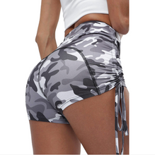 Load image into Gallery viewer, Lace-up Camouflage Skinny Yoga Pants. YP-028