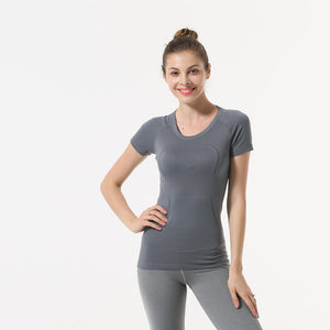 Quick-drying Stretch Stitching Yoga Top. YT-027