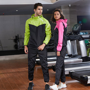 Couple long-sleeved diagonal zipper sweat suits, long fitness shaping sun protection sportswear suits. SS-003