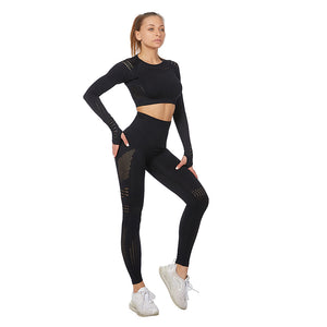 Long Sleeve Stretch Quick-drying Yoga Suit. YS-087