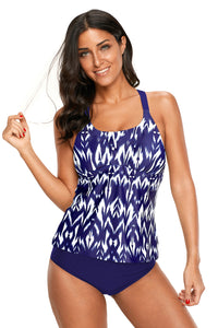Printed Tank Top One-piece Swimsuit. SW-016