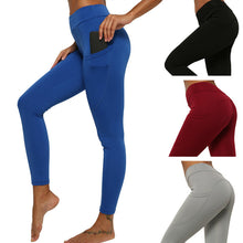 Load image into Gallery viewer, Side Phone Pocket Yoga Cropped Pants. YP-066