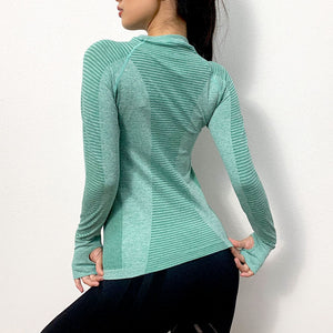 Women's Long Sleeve Loose Yoga Top. YT-036