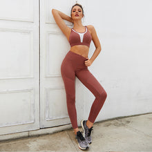 Load image into Gallery viewer, Moisture Wicking Fitness Yoga Suit. YS-018