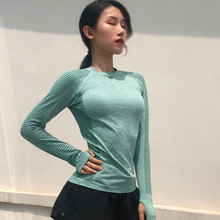Load image into Gallery viewer, Long Sleeve Loose Round Neck Yoga Wear. YT-045