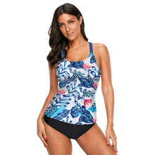 Load image into Gallery viewer, Printed Tank Top One-piece Swimsuit. SW-016