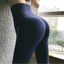 Load image into Gallery viewer, Large Letters Cropped High Waist Yoga Pants. YP-121