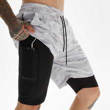 Load image into Gallery viewer, Men's Double Layer Anti-light Running Shorts. SR-23M