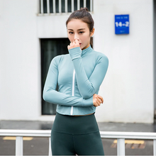 Load image into Gallery viewer, Autumn and Winter Zipper Long Sleeve Yoga Jacket. YT-038