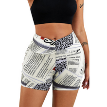 Load image into Gallery viewer, Fashion High Waist Colorful Yoga Shorts. YP-063