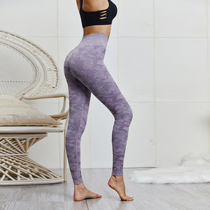 Camouflage Knitted Seamless Leggings Yoga Pants. YP-017