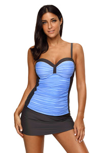 Tube Top Contrasting Color Swimsuit. SW-006