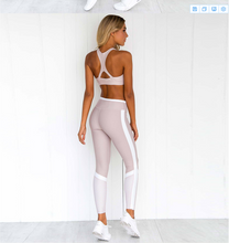 Load image into Gallery viewer, Vest Pants Print Stitching Yoga Suit. YS-022