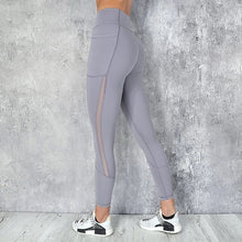Load image into Gallery viewer, Quick-drying Mesh Stitching Ankle Yoga Pants. YP-138