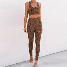 Load image into Gallery viewer, Best Leopard Yoga Wear for Hot Yoga Suit. YS-060