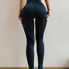 Load image into Gallery viewer, Seamless high-stretch yoga pants, high-waist skinny track pants, and tummy control leggings track pants. YP-001