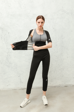 Load image into Gallery viewer, Women's Short Sleeve Slimming Sweat Suit. SS-001