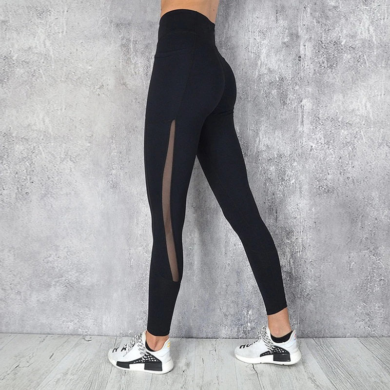 Quick-drying Mesh Stitching Ankle Yoga Pants. YP-138