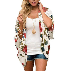 Ladies Leisure Beach Chiffon Sunscreen Blouse. SW-036