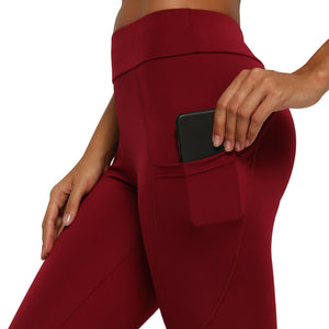 Side Phone Pocket Yoga Cropped Pants. YP-066