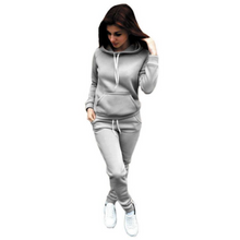 Load image into Gallery viewer, Women's Fleece Hooded Sweatshirt Sports Suit. SR-22W
