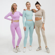 Load image into Gallery viewer, Ladies New Long Sleeve Tight Yoga Suit. YS-091