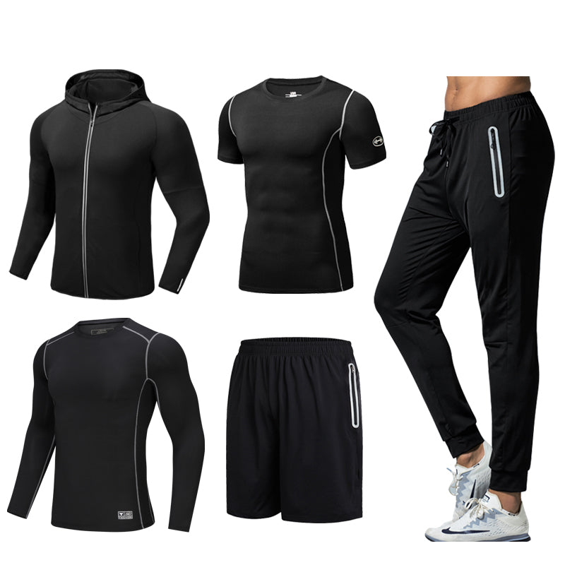 Men's Quick-drying Sportswear Five-piece Suit. SR-01M