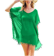 Load image into Gallery viewer, Ladies Chiffon Tassel Sexy Beach Blouse. SW-038