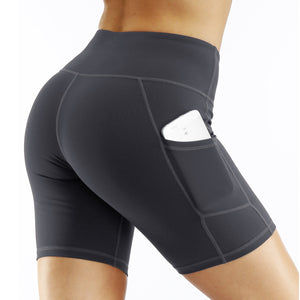 Ladies Side Pocket Quick-drying Yoga Shorts. YP-102